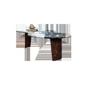 轻奢异形大理石书桌