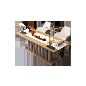 港式轻奢实木书桌