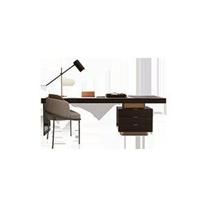 轻奢书桌书台简约旋转书桌