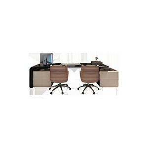实木轻奢后现代异形创意书桌