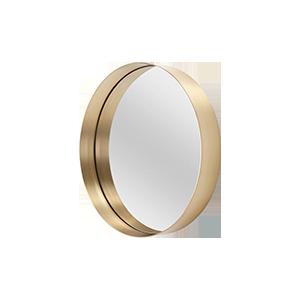 北欧金属拉丝圆形化妆镜