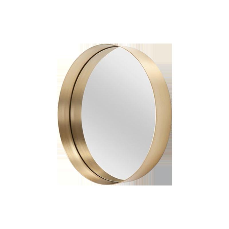 卧室|镜子/穿衣镜|创意家具|现代家居|时尚家具|设计师家具|北欧金属拉丝圆形化妆镜