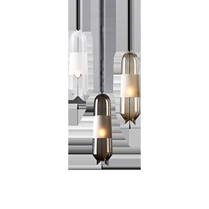北欧简约长玻璃吊灯
