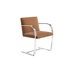 扁钢框架布尔诺椅 brno chair with flat bar frame 诺尔 knoll品牌 Ludwig Mies van der Rohe 设计师