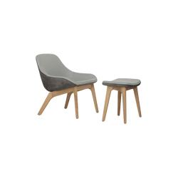 变形休闲扶手椅&脚踏 morph lounge armchair and ottoman zeitraum zeitraum品牌 Formstelle 设计师