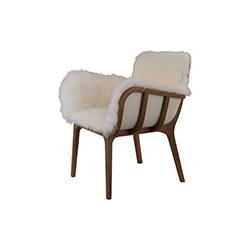 日本轿子软毛简易椅 kago fur easy chair 让·马克·加迪 Jean Marc Gady
