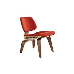 伊姆斯软垫木制休闲椅 eames upholstered lcw 赫曼米勒