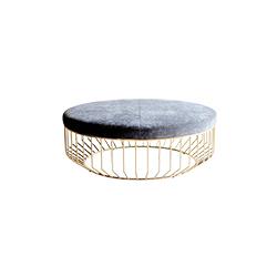 钢丝软垫凳 wired ottoman phese design Reza Feiz