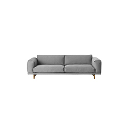 安德森&沃尔工作室 Anderssen & Voll| 休息三座沙发 rest 3-seater sofa