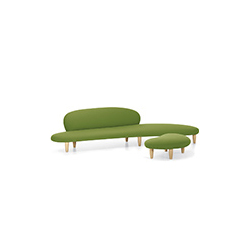 自由沙发&脚踏(鹅卵石沙发&脚踏 noguchi freeform sofa and ottoman 维特拉 vitra品牌 Isamu Noguchi 设计师