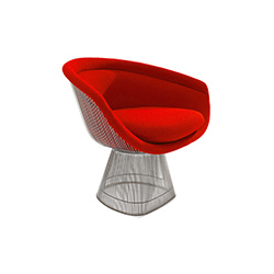 普拉特纳休闲椅 platner lounge chair 诺尔 knoll品牌 Warren Platner 设计师