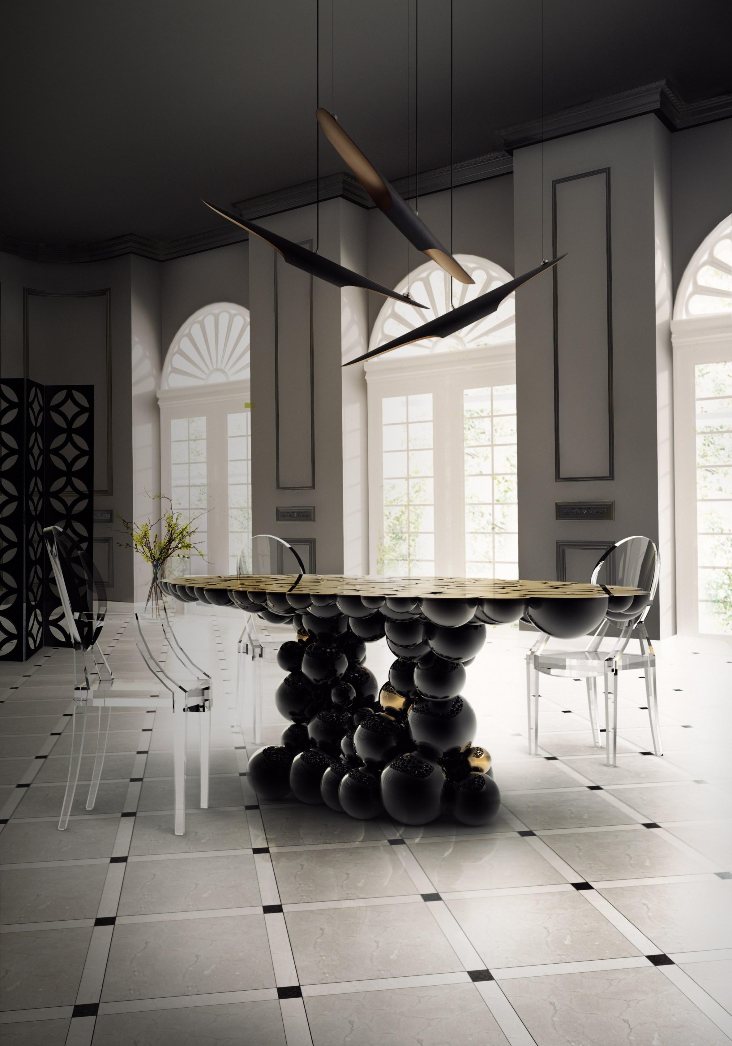 桌几 餐桌 创意家具 现代家居 时尚家具 设计师家具 定制家具 实木家具 牛顿餐桌