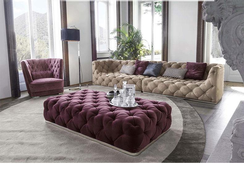 优选轻奢三人沙发
