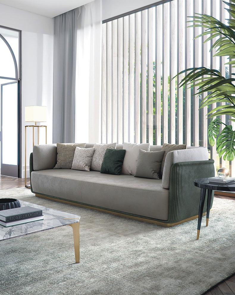 轻奢风格多人沙发