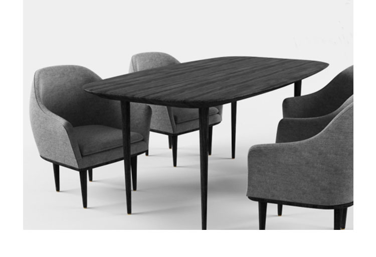 露娜 餐桌、lunar dining table、L2114-6产品详情