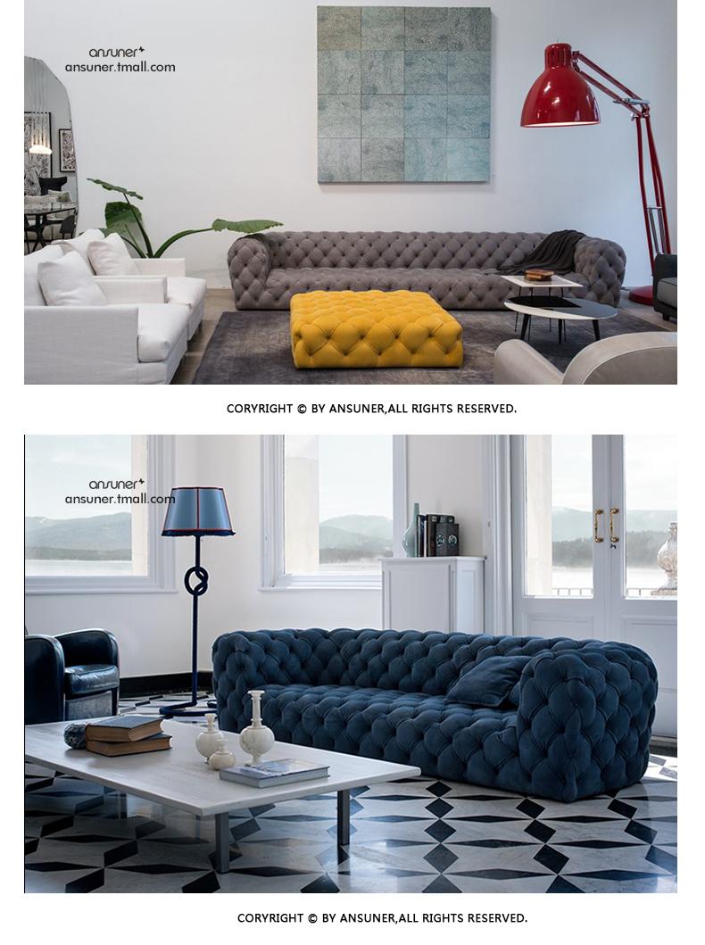 现代真皮沙发