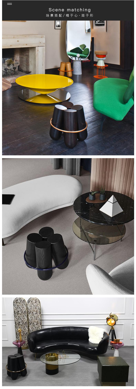北欧设计师实木凳